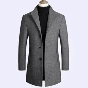 West Louis Executive Wool Grey Coat